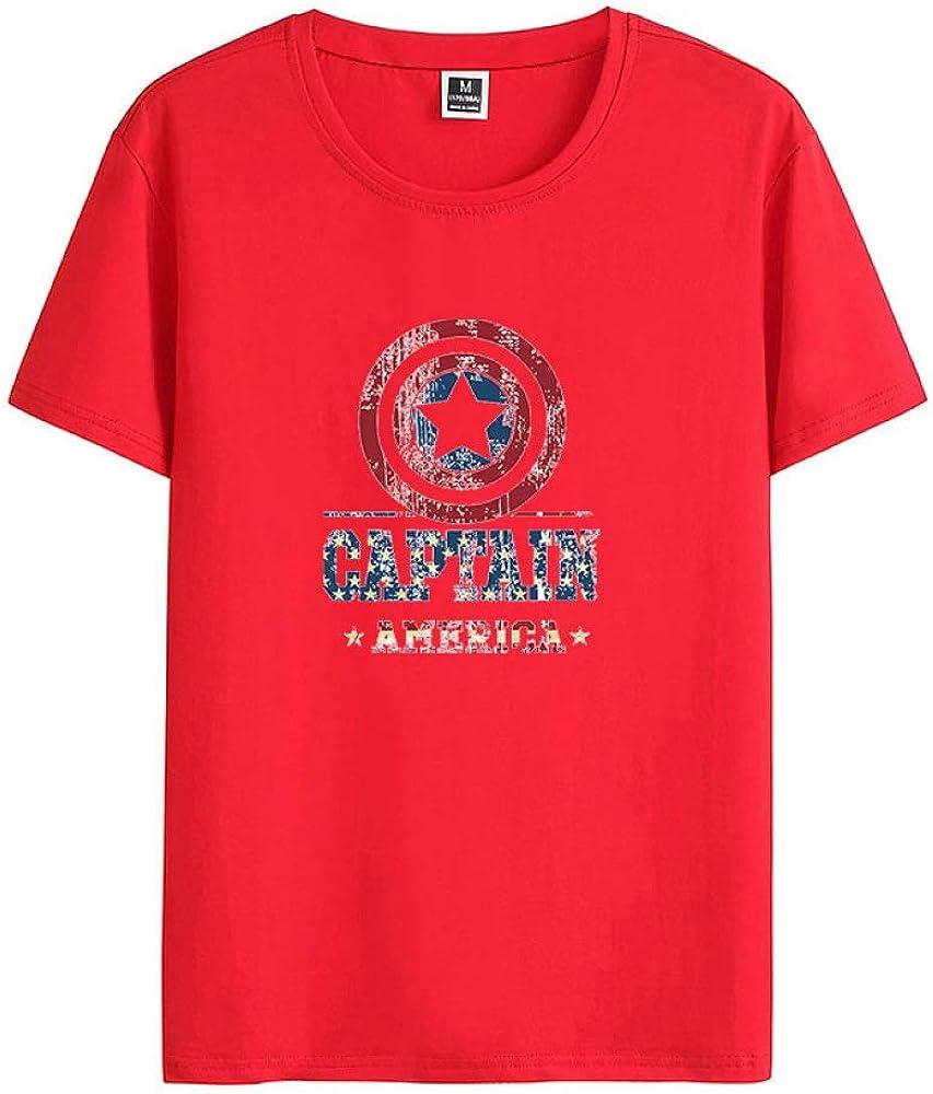 Camiseta de Hombre de algodón Fino elástico Cuello Redondo Manga Corta Rojo 5XL: Amazon.es: Ropa y accesorios