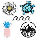 Cute Vinyl Laptop and Water Bottle Decal Sticker Pack, Made in US Ocean/Beach