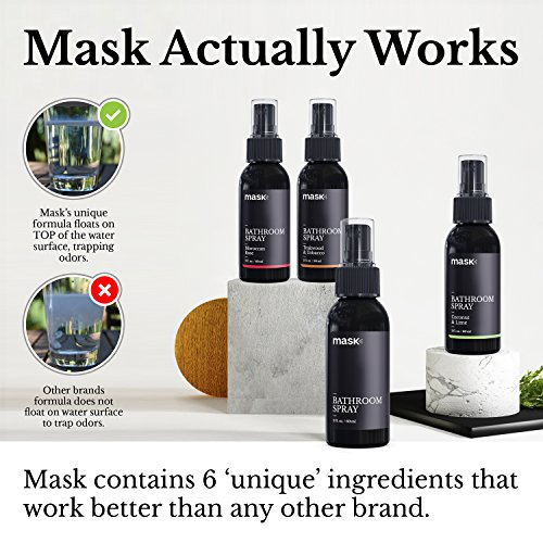 Mask Bathroom Spray 2oz (3 Pack), Green Tea & Lemongrass Fragrance, Toilet Spray, Before You Go Deodorizer, Best Value Air Freshener Poo Poop Spray, Perfect for Travel! by Mask (Image #3)