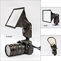 Universal Flash Diffuser Light Softbox. Collapsible Flash Diffuser with Storage Pouch. Light Reflector. Filters Pouch By Lammed.