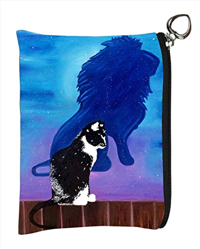 Change Purse, Vegan Coin Purse - Animals - from My Original Paintings - Support Wildlife Conservation, Read How (Animals) (Tuxedo Cat - Antonie's ()