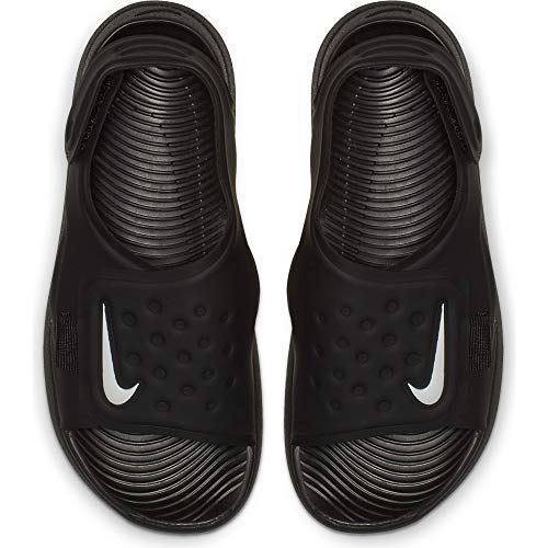 Nike Little/Big Kids' Sunray Adjust 5 Sandal Black/White, Size 11 M US Little Kid by Nike (Image #3)