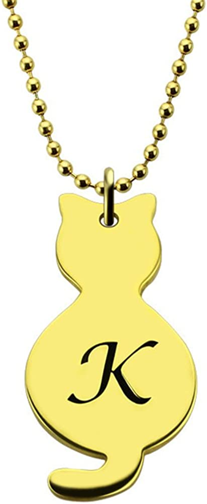 Customize Initials or Special Letters KIKISHOPQ Personalized Name Necklace