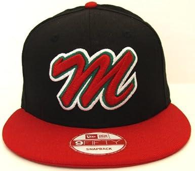 New Era 9FIFTY Mexico Baseball Snapback Hat Black Men/'s M Logo Cap
