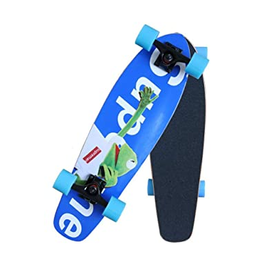 Aniseed Cruiser Skateboards Deck Wood Complete Skateboard 27 Inch Longboard Frog Blue : Sports & Outdoors