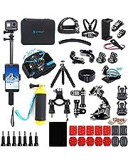 $36 » Artman Action Camera Accessories Kit 61-in-1 for Gopro Hero 9 8 7 6 5 4 3 2 1 Black Max Fusion Session Silver Akaso DJI Xiaomi Yi Apeman 2018 Insta360(Black)