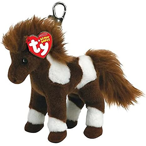 TY Beanie Baby - THUNDERBOLT the Horse ( Metal Key Clip ) [Toy]