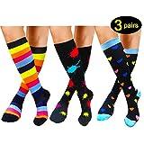 Compression Socks For Women Men 20-25mmHg-Best Medical, Nursing, Travel & Flight Socks - Running & Fitness Compression Stockings (S/M,Colourful)