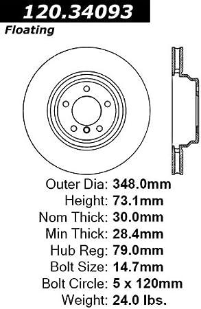 Centric Parts INC 120.42041 Premium Brake Rotor with E-Coating
