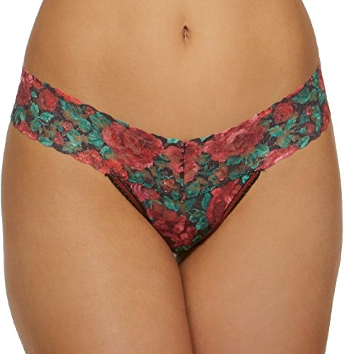 Hanky Panky Women's Roses are Red Low Rise Thong, Multi, One Size