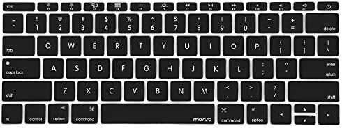 MOSISO Silicone Keyboard Cover Protective Skin CompatibleMacBook Pro 13 inch 2017 & 2016 Release A1708 Without Touch Bar MacBook 12 inch A1534 Clear