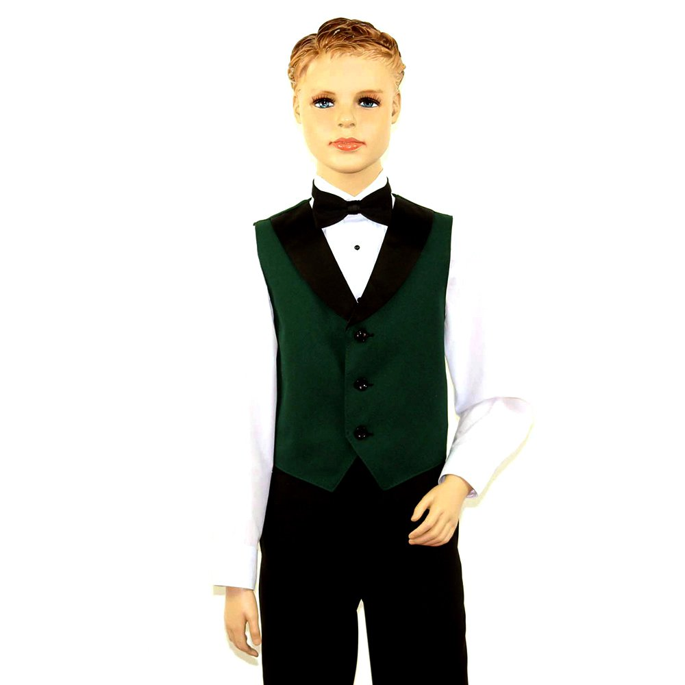 Kids Full Back Tuxedo Vest with Black Lapel