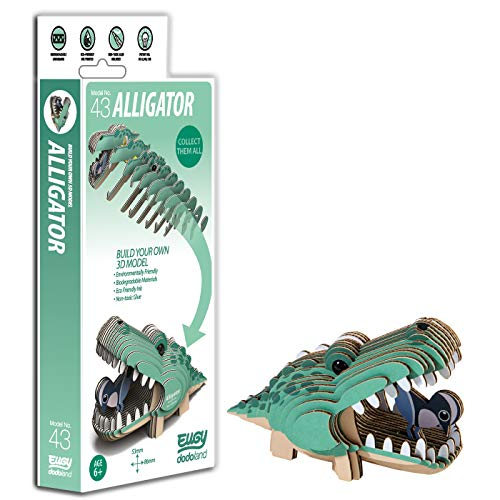 Brainstorm Toys D5009 EUGY Alligator 3D Craft Kit,