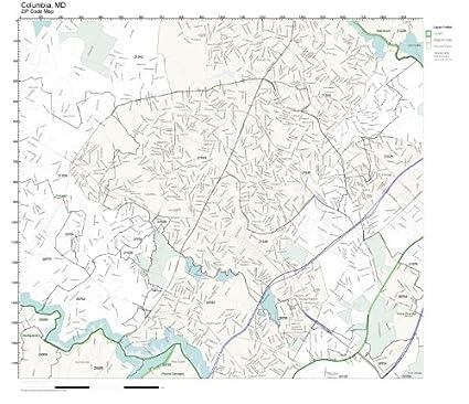 Columbia Maryland Zip Code Map Sham Store