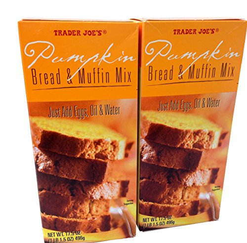 Trade Joes Pumpkin Bread and Muffin Mix: 2 Boxes 1 Lb 1.5 Oz. Each.total 2 Items -