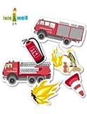 """Ménagère 24pièces Kit de décoration de table pour fête d'anniversaire d'enfant Motif en """"Feuerwehr Taille XXL [Langue allemande signifiant 'Pompiers']"""