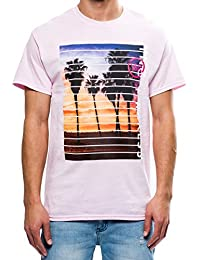 Young And Reckless - Coastline Tee- Pink - - Tees - Graphic Tee