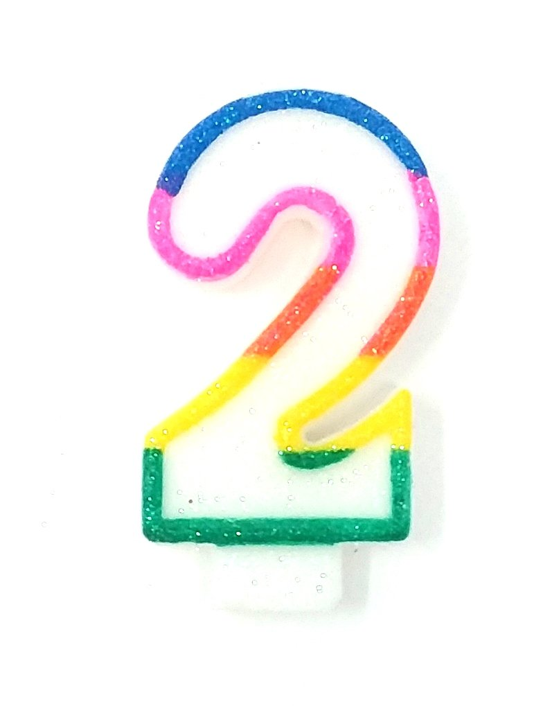 200 COLORFUL # 2 BIRTHDAY CAKE CANDLE FOR PARTY CELEBRATION WHOLESALE BULK LOT
