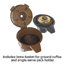 Hamilton Beach (49974) Single Serve Coffee Maker For K Cups & Ground Coffee, Flexbrew, Black