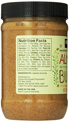 Kirkland Signature Creamy Almond Butter 27 Ounce Import