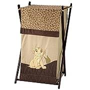 Disney Lion King Simba's Wild Adventure Appliqued Folding Hamper with Mesh Bag, Brown, Orange, Sage, Ivory