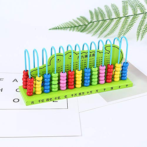 JOJOmay Baby's Exquisite Comfort Toy 13 File 10 Beads Calculation Abacus Mini Pupils Abacus Kindergarten Arithmetic Toy (Random color)