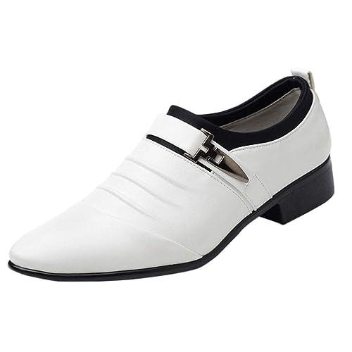 Gtagain Zapatos Oxford Mocasines Hombre - Cordones Boda Negocios Moda Cuero Derby Fiesta Boda Cómodo Casuales: Amazon.es: Zapatos y complementos