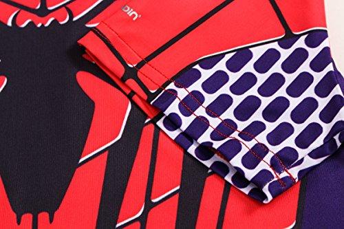 Cody shirt T Corte Running Donna Ragno Maglietta Danza Shirt sport Yoga Supereroe Lundin® Maniche Fitness XIaxXqwrS