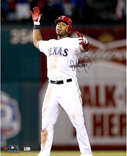 Elvis Andrus Texas Rangers Autographed 16