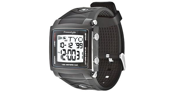 Freestyle Cory Lopex Signature - Reloj digital de caballero de cuarzo con correa de goma negra (alarma, cuenta vueltas, luz, cronómetro): Freestyle: ...