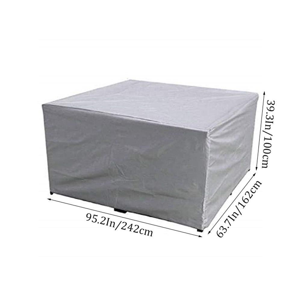 FOONEE Fundas para Muebles de jard/ín Resistentes al Agua al Viento a la Nieve y a los Rayos UV al Polvo Fundas para Muebles de Patio con cord/ón para Mesa y sillas de Patio al Aire Libre