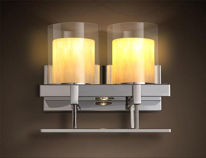 Plafoniere Da Parete Moderne : Moderne lampade da parete in acciaio inox a led portacandele di