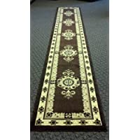 Traditional Long Rug Runner 32 In. X 15 Ft. 10 In. Brown Design # 121