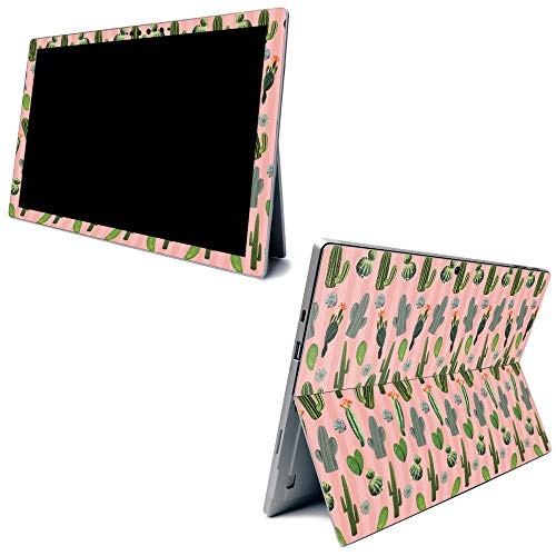MightySkins Skin for Microsoft Surface Pro 7 - Cactus Garden   Protective, Durable, and Unique Vinyl Decal Wrap Cover   Easy to Apply, Remove, and Change Styles   Made in The USA