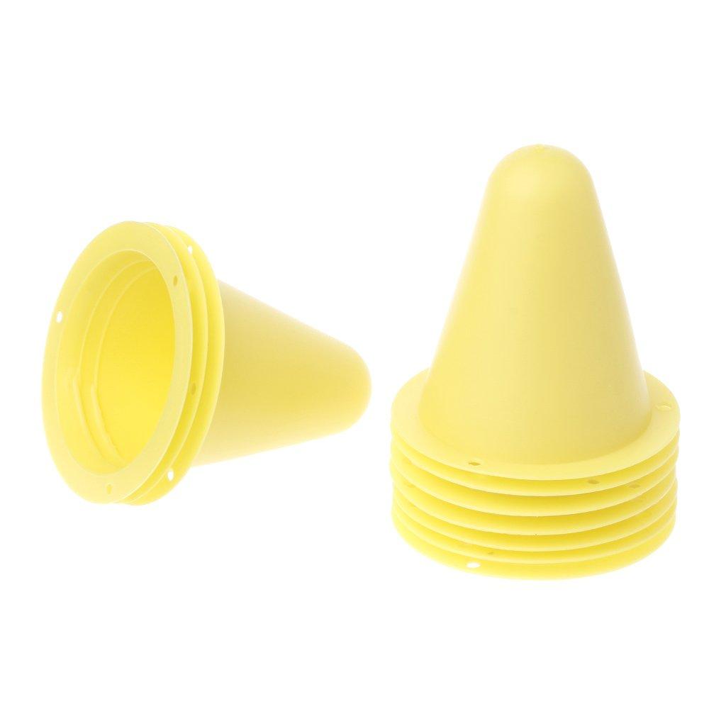 Susada 10 Pcs Skate Marker Cones Roller Football Soccer Training Equipment Marking Cup