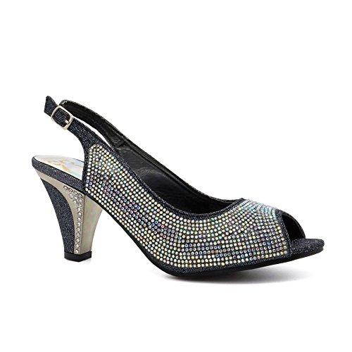 London Footwear - Zapatos con tacón mujer negro