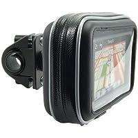 Arkon Bike or Motorcycle Handlebar Mount with Water-Resistant Holder for 4.3-inch Screen Size Garmin Tomtom Magellan GPS