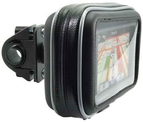 Arkon Bike or Motorcycle Handlebar Mount with Water-Resistant Holder for 4.3-inch Screen Size Garmin TomTom Magellan GPS