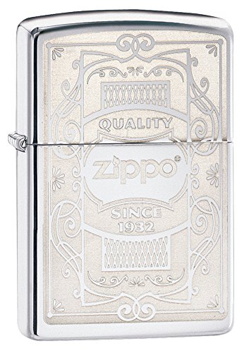Zippo Quality Since 1932 Pocket Lighter, black Ice