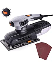 Sheet Sander Tacklife 300W 12000RPM 6 Variable Speeds,Super Large Sanding Base 115 x 230MM Fast Clamping System,Dust Collection System,Hook and Loop Base Pad/PSS02A