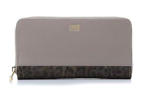 low priced 14896 59846 Portafoglio ROBERTO CAVALLI Candy Leopard Donna Taupe ...