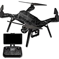 MightySkins Protective Vinyl Skin Decal for 3DR Solo Drone Quadcopter wrap cover sticker skins Black Marble