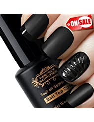 Perfect Summer Matte Top Coat Gel Nail Polish - UV LED Soak Off Top Coat, Home Gel Manicure Salon Polish, Clear Color 8ml