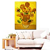 Faraway Van Gogh Sunflower Full Round Diamond Painting 5D DIY Handmade Embroidery Decorative Needlework Mosaic Kits for Wall Decor 16X20inch