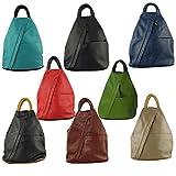 Cavalieri Daniela Moda Italian Grain Leather Rucksack Backpack Shoulder Bag