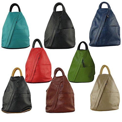 Rucksack Daypack Daniela Moda Leather Bag Italian Cavalieri Green School Backpack Handbag XxOCwfFq