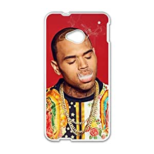 Happy Chris Brown Cell Phone Case for HTC One M7