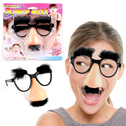 Bagvhandbagro Funny Glasses Toys, Fuzzy Nose and Glasses Classic Disguise ()