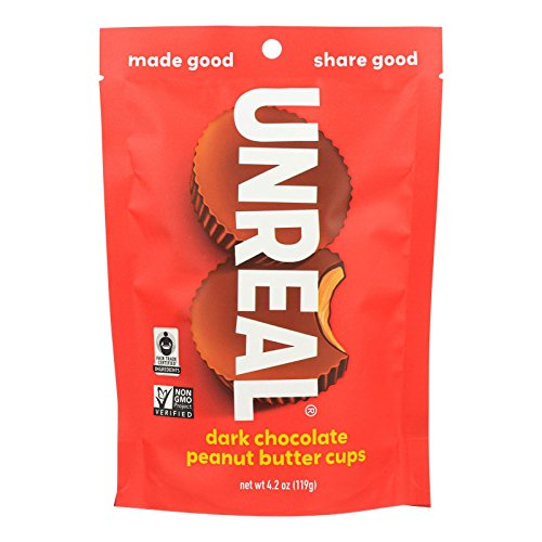Unreal Cups Dark Chocolate Peanut Butter, 4 oz
