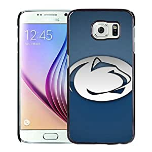 Ncaa Big Ten Conference Football Penn State Nittany Lions 6 Black Fashion Customize Design Samsung Galaxy S6 G9200 Phone Case